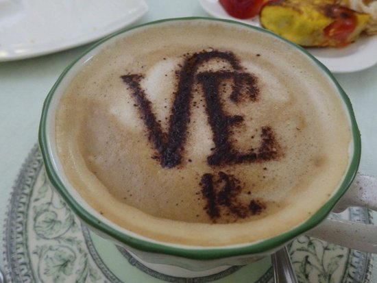 Villa Euchelia Resort : Morning cappucinno