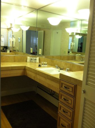 Lobos Lodge: Bathroom counter area