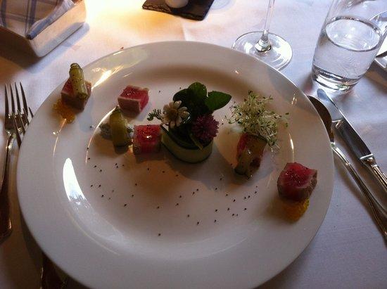 Historic Hotel Chesa Salis : Vorspeise Thunfisch