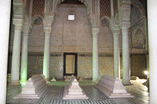 Saadian Tombs: Гробницы Саади - вид внутри