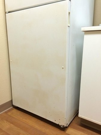 Extended Stay America - Montgomery - Eastern Blvd. : Dingy, damaged fridge.