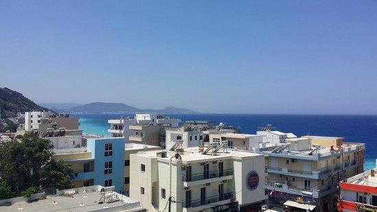 Manousos City Hotel: noget af vores flotte udsigt fra balkonen :-)