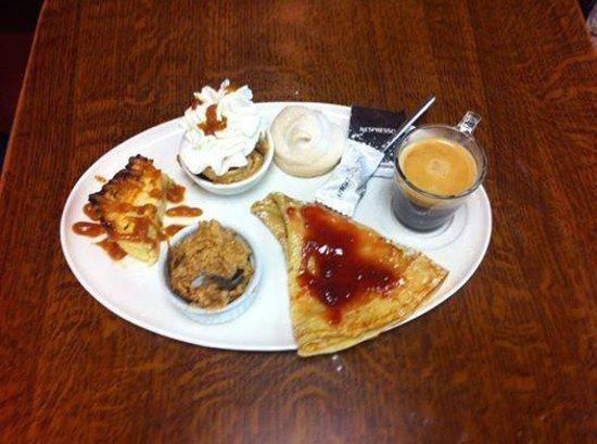 Rôtisserie Sandwicherie La Pomme Doree : café gourmand