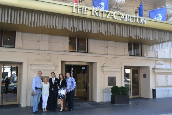 The Ritz-Carlton, Vienna: Our family with the amazing concierge, Phillip!