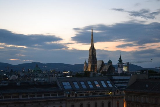 The Ritz-Carlton, Vienna: View from rooftop bar - amazing!