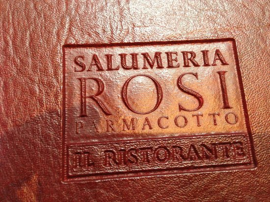 the cover of the fancy menu picture of salumeria rosi