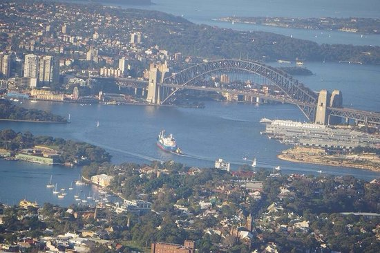 Sydney Harbour: View from the plan