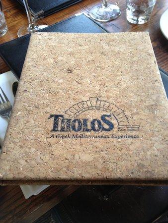 Wine list at Tholos