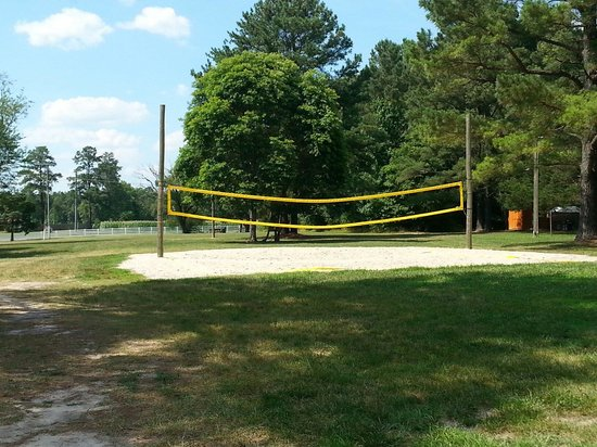 Kings Dominion Camp Wilderness Campground: Volleyball site.