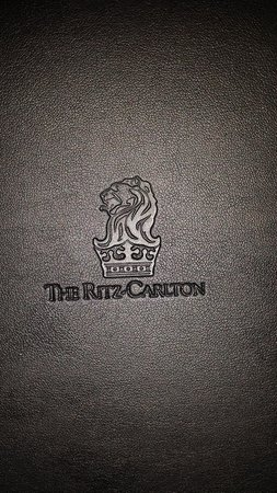 The Ritz-Carlton, Charlotte: Check cover is fancy too!