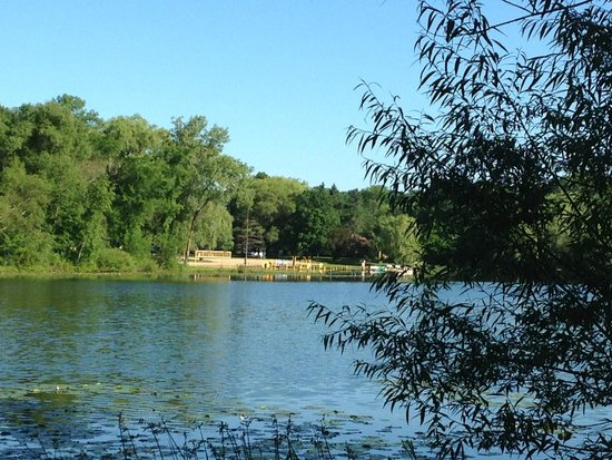 Lake Lenwood Beach & Campground: The Beach view from our site
