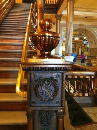 Kansas State Capitol Building: KS detail on the newel posts