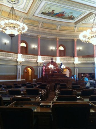 Kansas State Capitol Building: The KS House Chambers