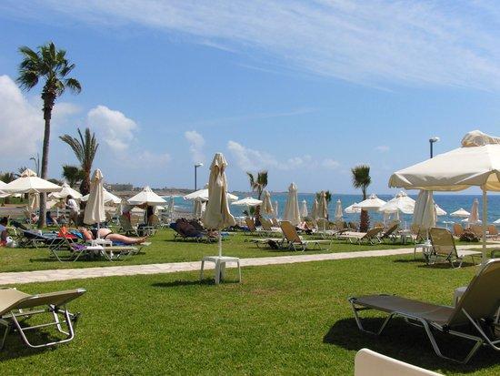 "Akti Beach Village Resort : ""Зеленая зона"" пляжа"