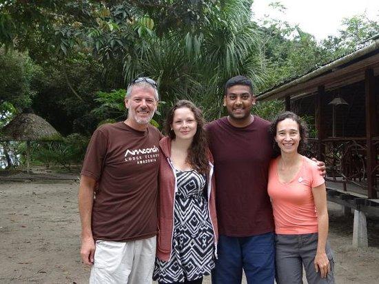 Anaconda Lodge Ecuador: Beutiful couple that came from England and Bangladesh to visit the Ecuadorian Amazon!