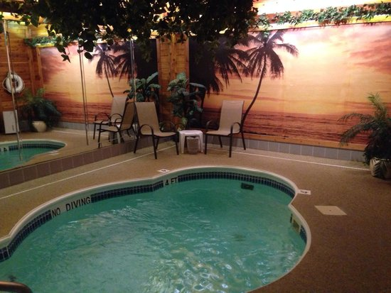 Sybaris Indianapolis : Indoor heated pool with waterfall.
