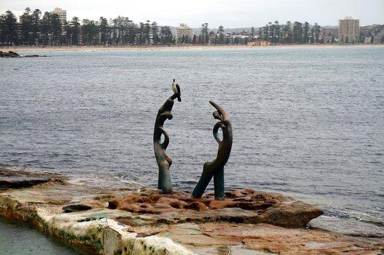Manly Scenic Walkway: coastal art