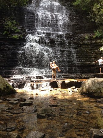 Conasauga, TN: Beautiful Benton falls, one of the locations near the Inn