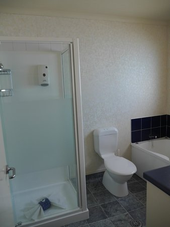 Havelock North Motor Lodge : Walk-in shower in one bedroom suite at Havelock North
