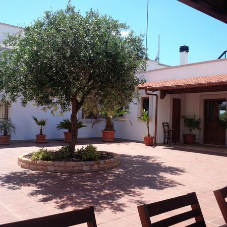 Masseria Cesarina: Courtyard and kitchen entrance from BBQ area