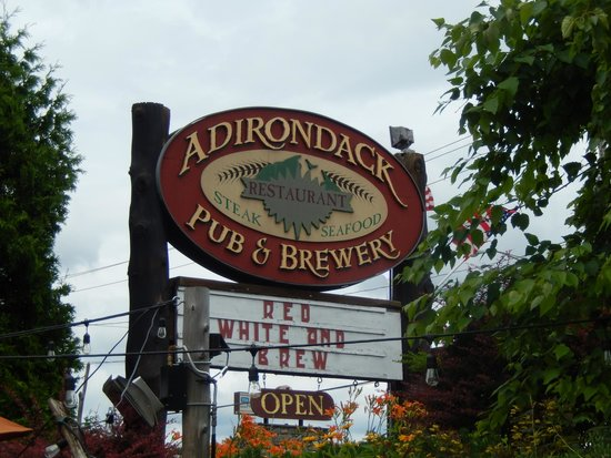 Adirondack Pub & Brewery: front sign