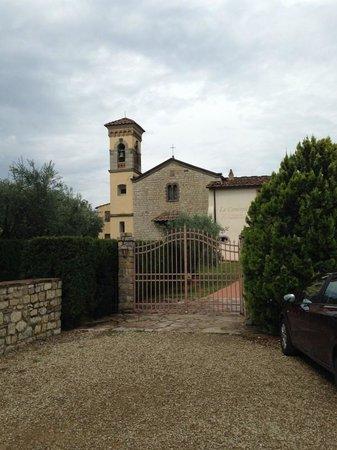 Castello Vicchiomaggio: building our rooms were in