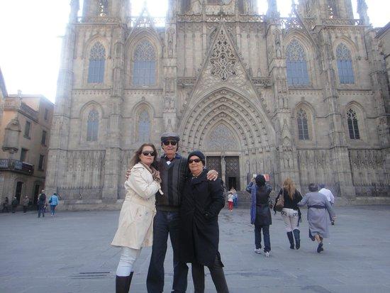 Catedral de Barcelona: Fachada da Catedral de Santa Eulalia