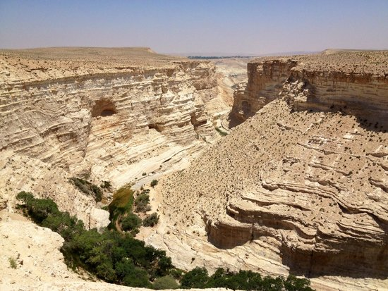 Avdat National Park: View from Upper Entrance Observation Point and where the 1 way hiking trail ends