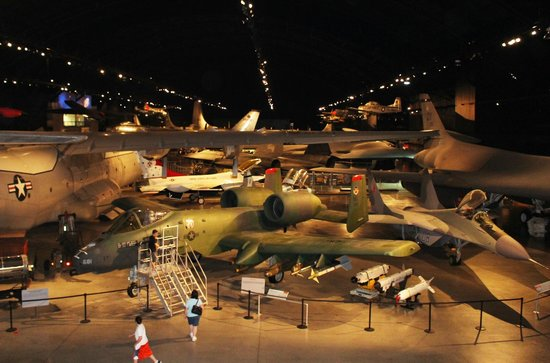 National Museum of the U.S. Air Force: Shows the vastness of one of the hangers from top of NASA shuttle