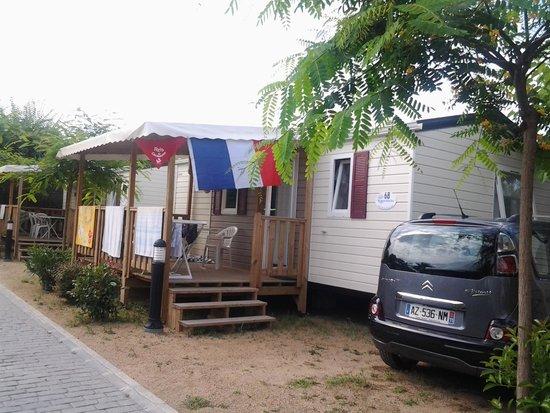 Camping la Masia: VUE DE LA RUE
