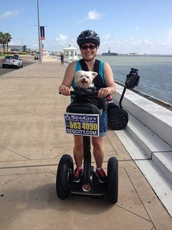 SegCity Guided Segway Tours: Biscuit, 13 years young, had a bucket list wish of riding a segway