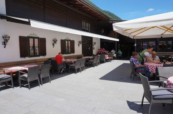 Jagdhütte: La terrazza