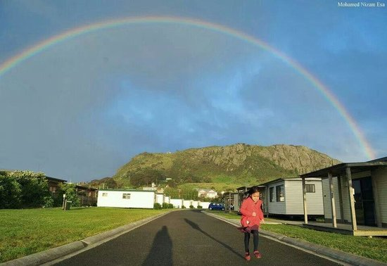 The Nut State Reserve : My daughter under the rainbow at the Nutnof Stanley