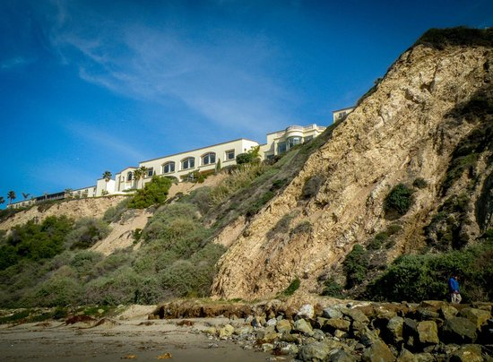 Dana Point, CA: Rocky Cliff face with Ritz Carlton above