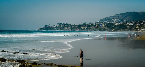 Dana Point, Californië: Beach is Wide and Flat - Nice for Walking or Running