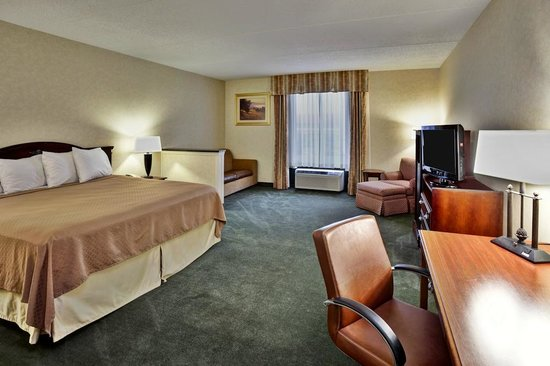 Quality Inn & Suites: King bed Suite with pullout sofa bed
