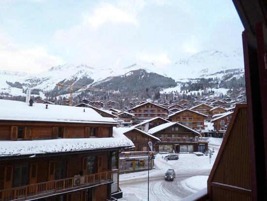 Hotel Ermitage : vue du balcon de ma chambre