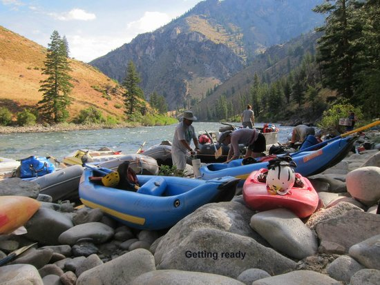 Middle Fork of the Salmon River: getting ready to leave