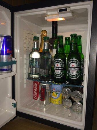 Malmaison: The well stocked mini fridge