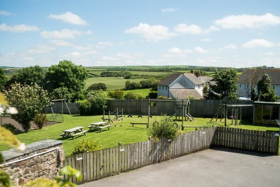 Court Farm Holidays: overlooking the large play area