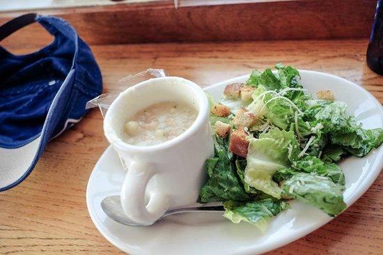 Santa Barbara Shellfish Company: Clam Chowder with Salad