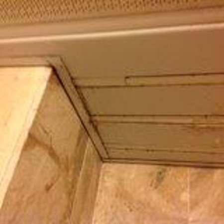 Caravel Hotel Zante: Damp and mould on bathroom ceiling