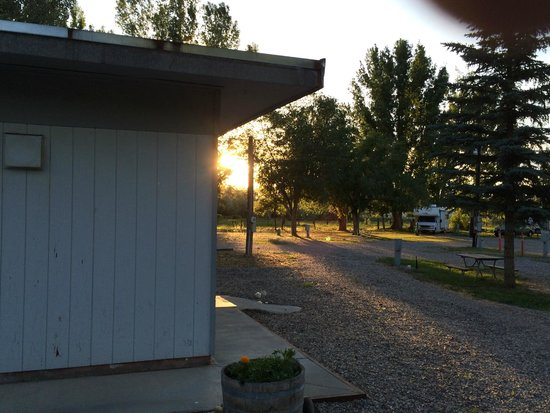 Worland RV Park & Campground: Sonnenuntergang Worland