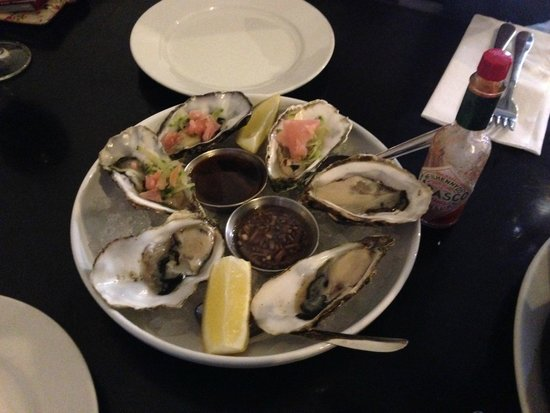 Mourne Seafood Bar: Oyster - 3 au Naturel and 3 Japanese Style with pickled ginger