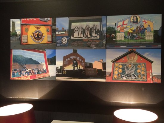 Malmaison: Pictures in the hallway of local murals