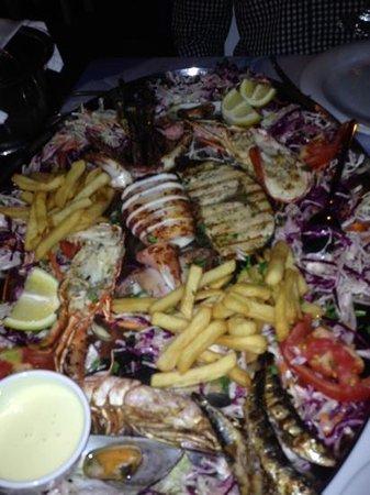 Poseidon Restaurant: seafood plate for two at Poseidon