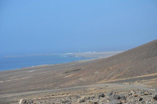 Playa de Cofete: vers Cofete vue vers pointe de Jandia
