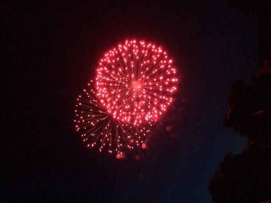 Mountain Lake Lodge: Fireworks
