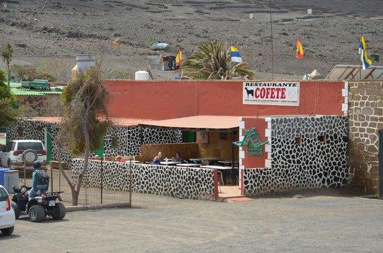 Playa de Cofete: Cofete piste LE restaurant