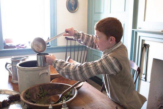 Dill's Tavern and Plantation: A young reenactor at Colonial Gaming Day